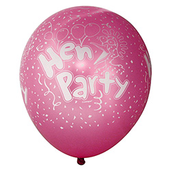 Pink Pearlised Hen Party Balloons