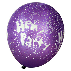 Purple Pearlised Hen Party Balloons