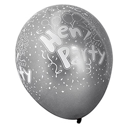 Silver Pearlised Hen Party Balloons