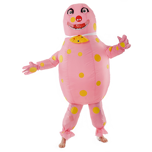 Front Facing Hilarious Inflatable Mr Blobby Costume