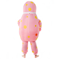 Back Of Hilarious Inflatable Mr Blobby Costume
