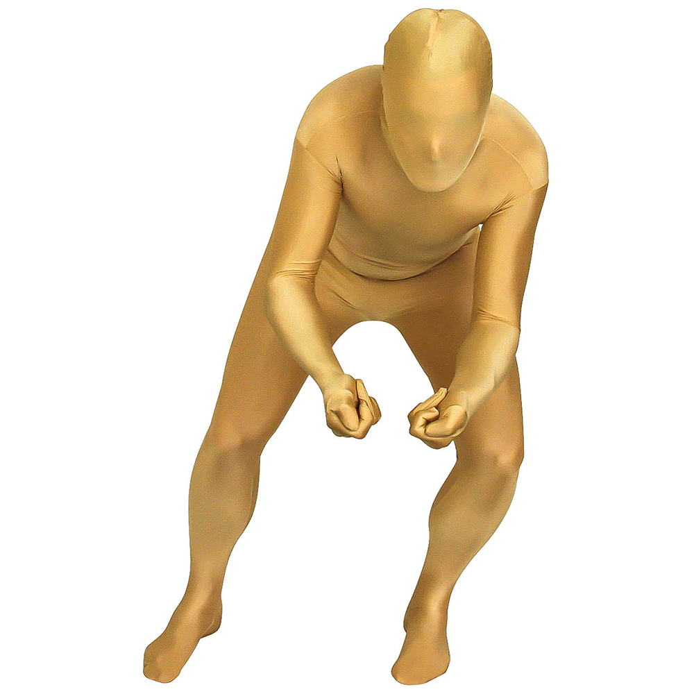 Gold Morphsuit Skiing