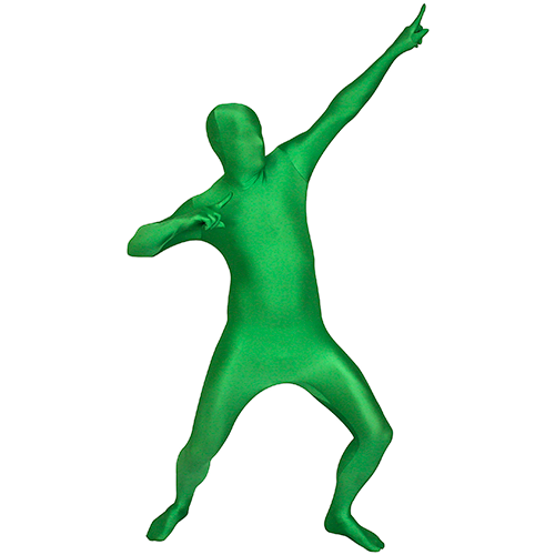 Green Morphsuit Pointing