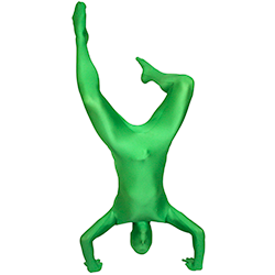 Green Morphsuit Hand Stand