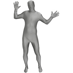 Waving Silver Morphsuit