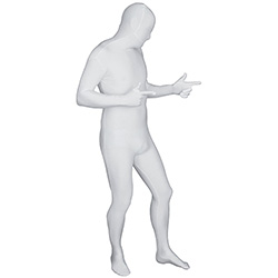 White Morphsuit Point In A Direction