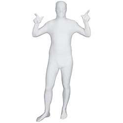 White Morphsuit Facing Forward Holding Arms Up