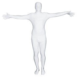 White Morphsuit In A Angel Stance