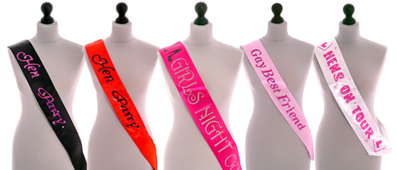 Sashes for all the Hen Party