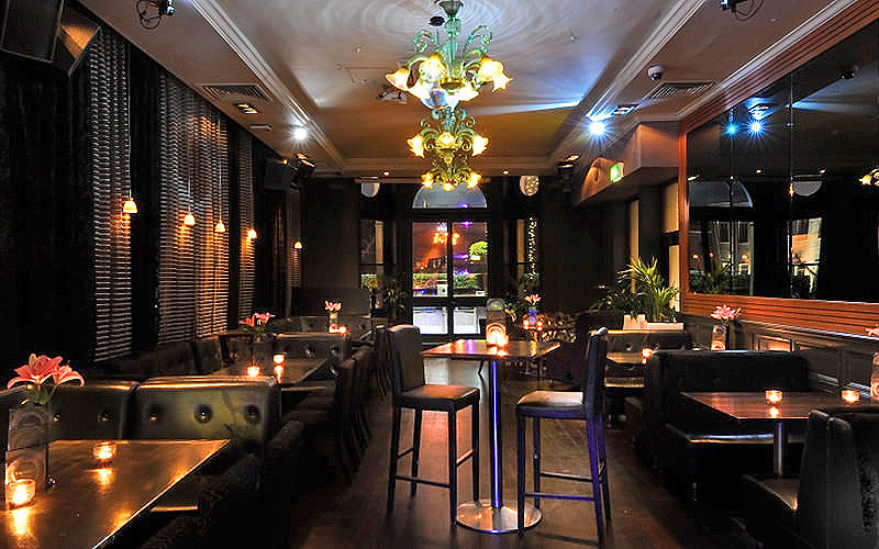 Seating areas at Ruby Blue, London