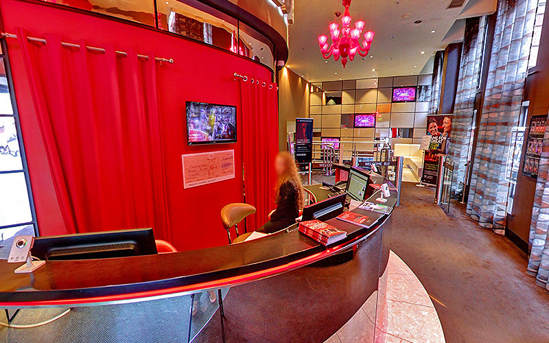 The reception desk of Genting Club, Manchester