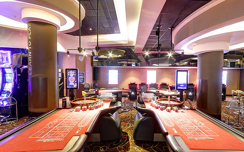 Roulette and poker tables in Genting Casino, Manchester