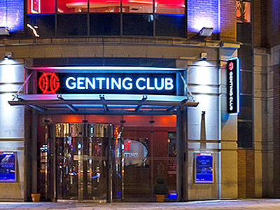 The exterior of Genting Casino in Manchester