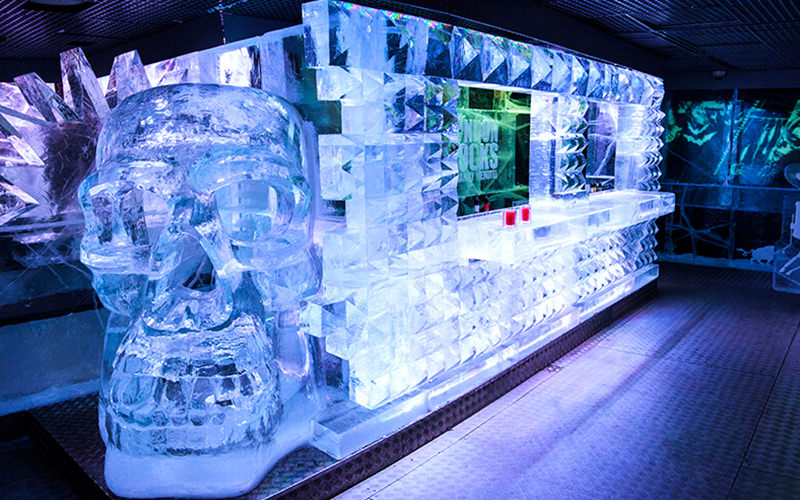 A truck made of ice in ICEBAR, London