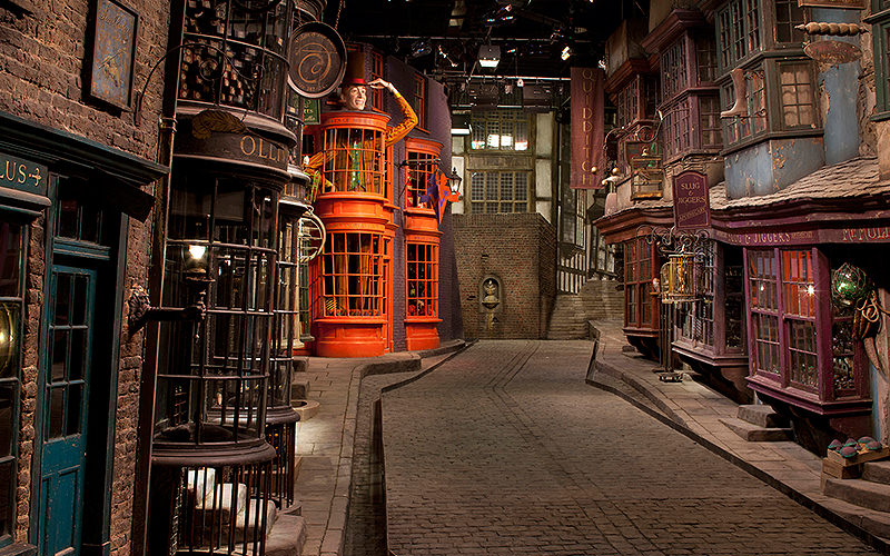 Diagon Alley inside the Warner Brothers studio in London