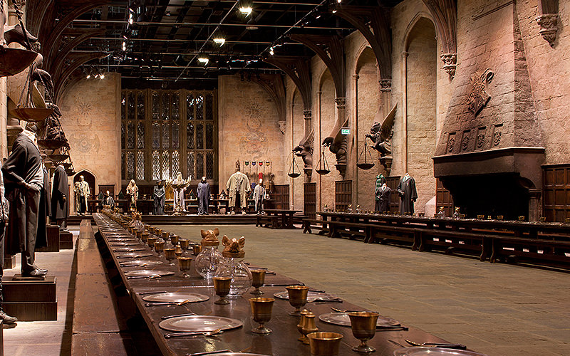 The Great Hall at the Warner Brothers studio
