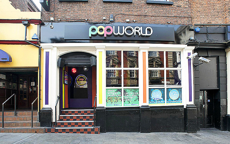 The exterior of Pop World, Liverpool, during the day