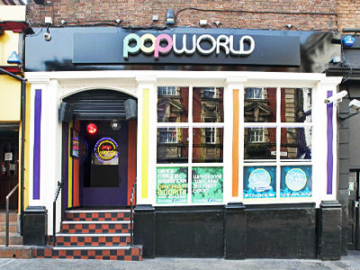The exterior of PopWorld, Liverpool