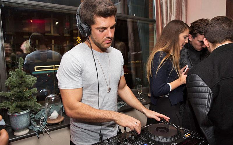 Alex Mytton DJing at Beaufort House, London