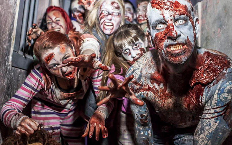 People dressed up as zombies