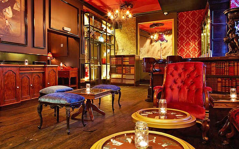 Interior of the bar at Bar Soho