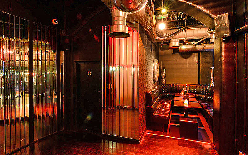 Caged private area at Opal Bar, London