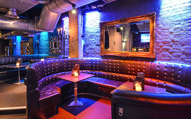 Leather booth at Opal Bar, London