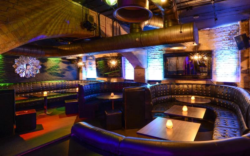 Empty room at Opal Bar, London