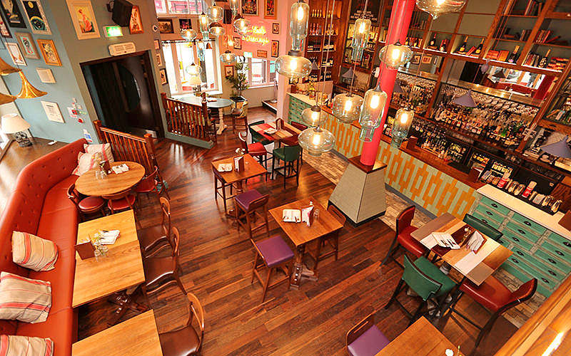 The inside of Scarlet's, London