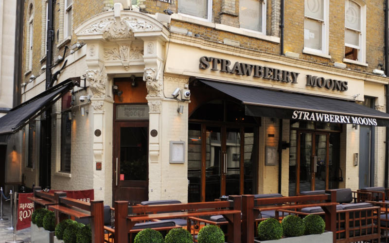 Exterior of Strawberry Moons, London