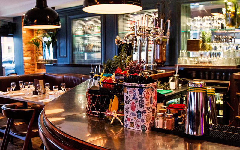 The bar at The Warwick, London