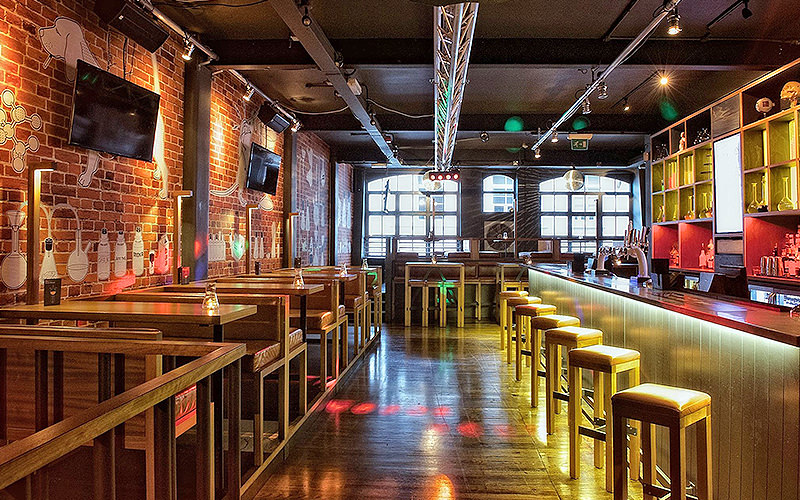 Liverpool's Baa Bar interiors
